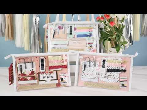Load and play video in Gallery viewer, Burgundy Blush Floral Wedding Survival Kit