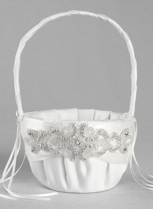 Adriana Flower Girl Basket (Available in Multiple Colors)