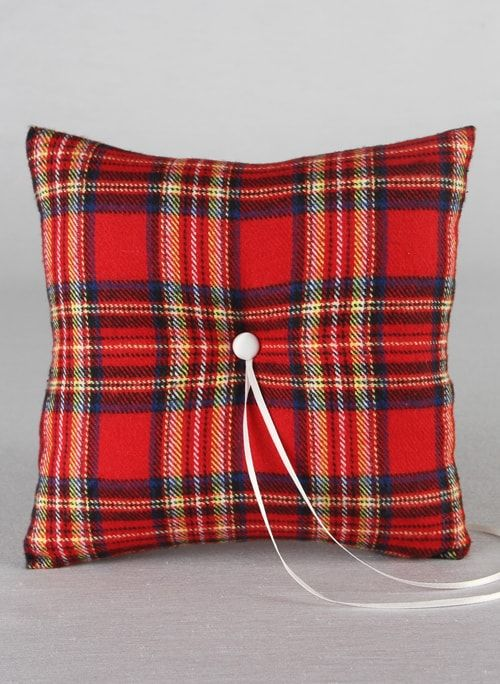 Aspen Plaid Ring Pillow (Multiple Colors Available)