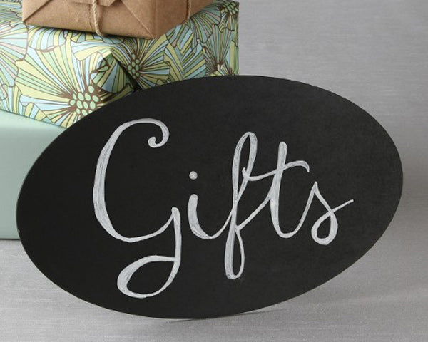 Oval Chalkboard Sign with Easel