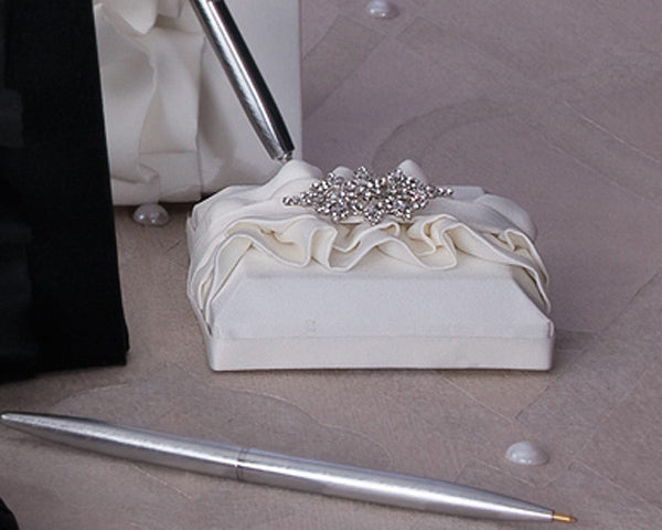Isabella Collection Guest Book and Penholder Set