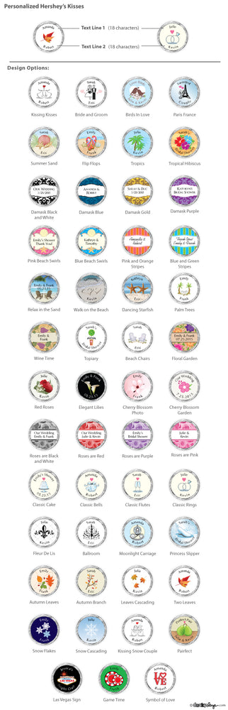 Personalized Hershey's Kisses® (Many Designs Available)