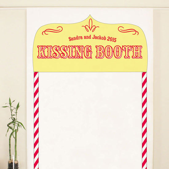 Kissing Booth Personalized Photo Backdrop