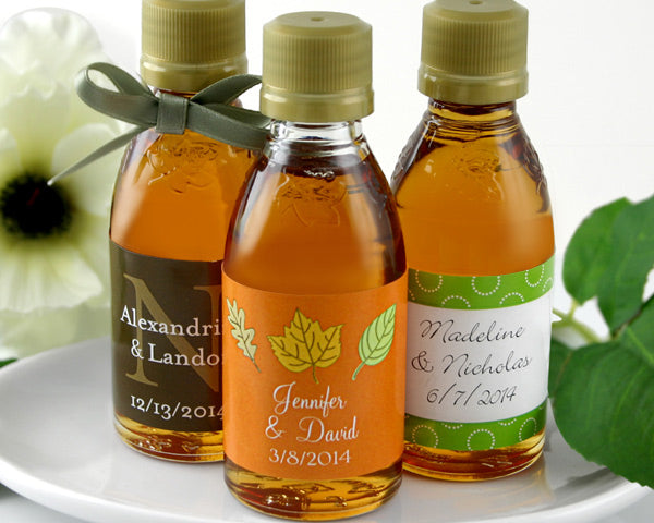 Personalized Maple Syrup Favors (Many Designs Available)