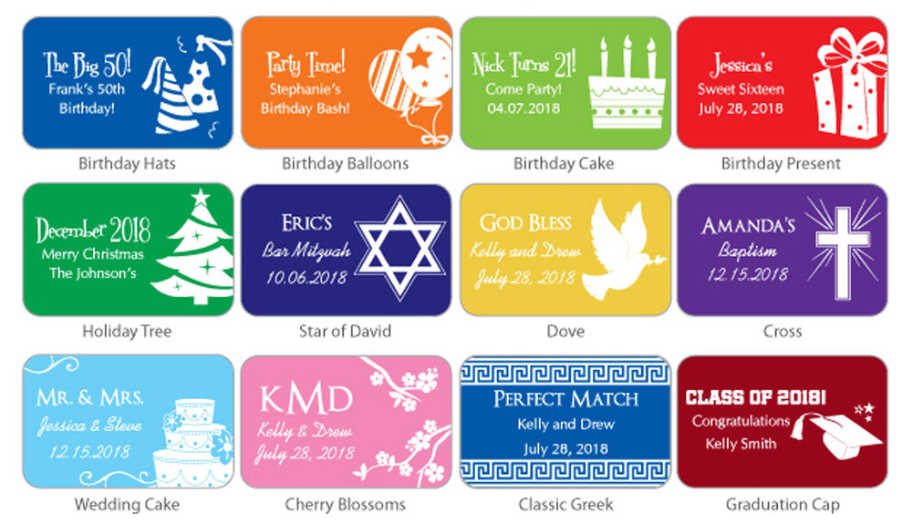 Personalized Silhouette Collection White Matchboxes (Set of 50)