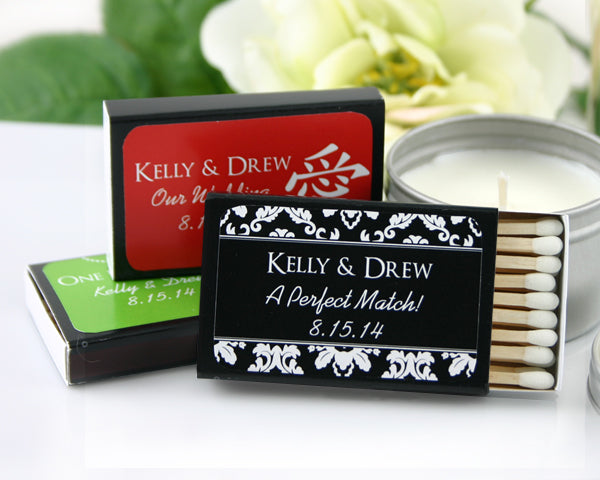 Black Personalized Matches (Set of 50)