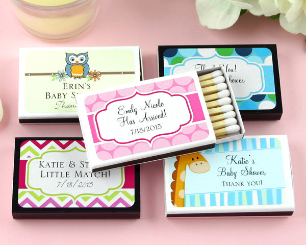 Personalized Baby Matchboxes | My Wedding Favors