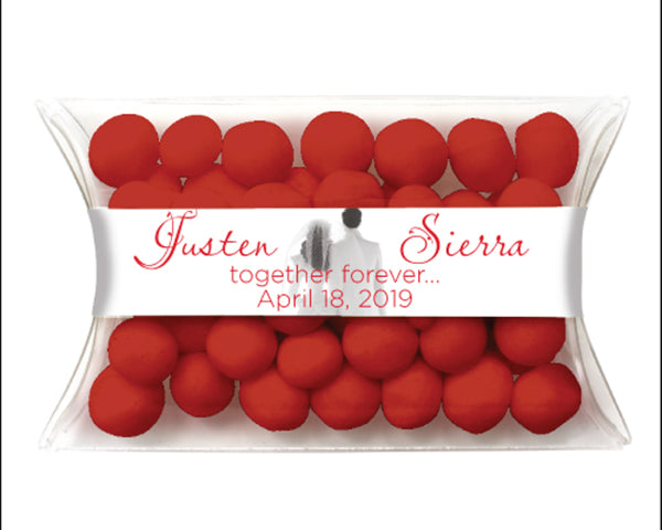 Bride & Groom Personalized Candy Pillow Packs