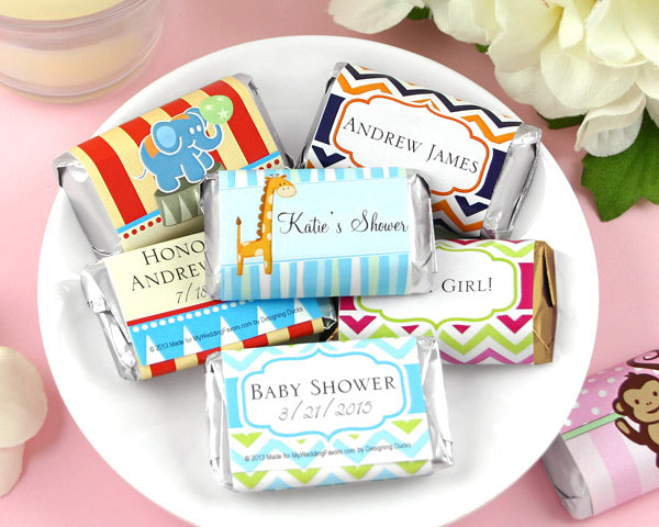 Personalized Baby Shower Hershey's Assorted Miniatures Favors | My Wedding Favors
