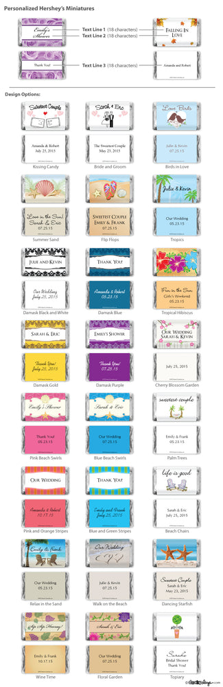 Personalized Hershey's Mini's (Many Designs Available)