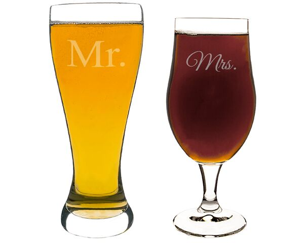Mr. & Mrs. Pilsner Set