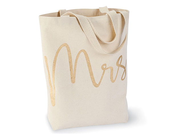Mrs Gold Glitter Canvas Tote (Personalization Available)