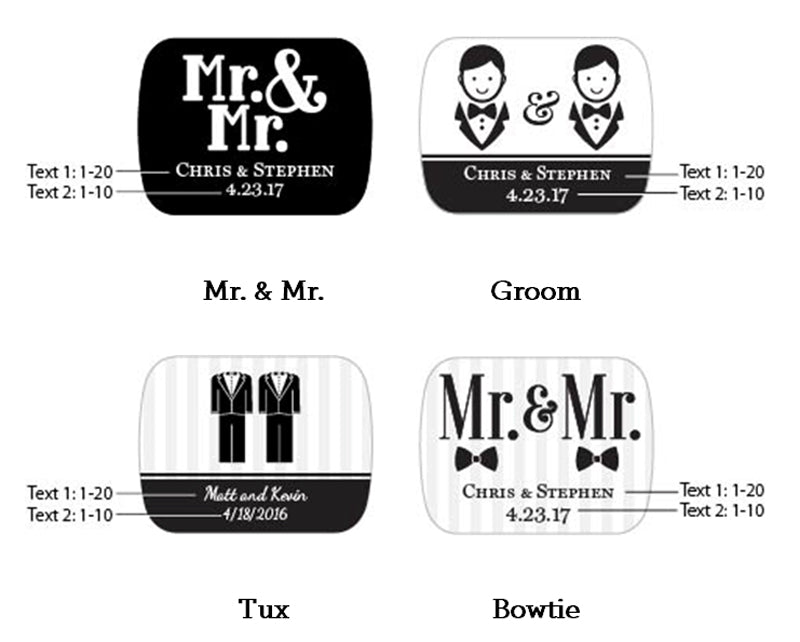 Personalized Mr. & Mr. Gold Bottle Opener
