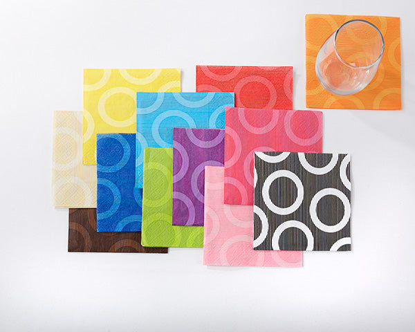 Personalized Monogram Circles or Vichy Napkins (Luncheon and Beverage Size Available)