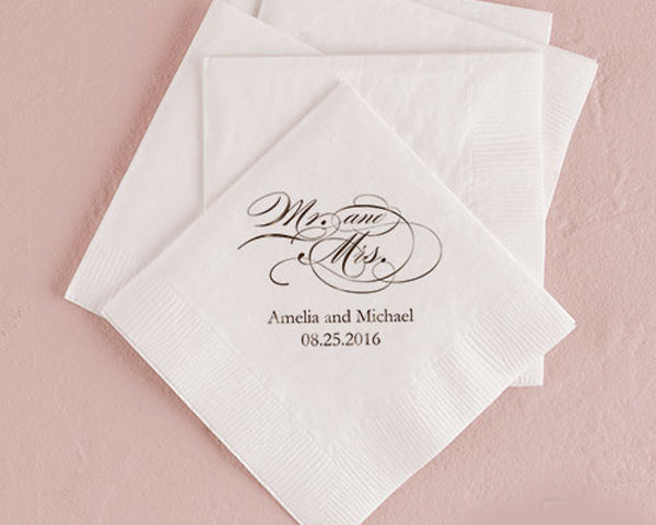 Printed Luncheon & Beverage Napkins (Set of 50)