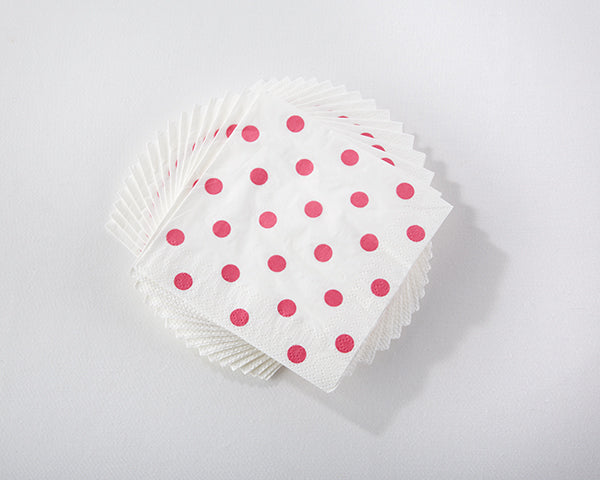 "Load image into Gallery viewer, Hot Pink Polka Dot 10"" Beverage Napkins (16 Count)"