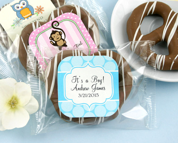 Personalized Exclusive Baby Gourmet Pretzels (Many Designs Available) | My Wedding Favors
