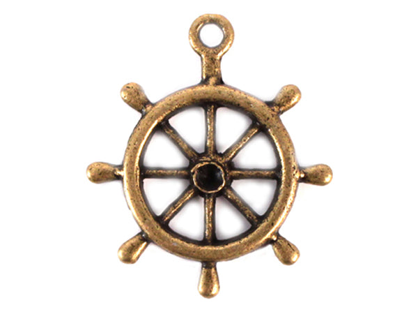 Load image into Gallery viewer, Boat Wheel Charm (Set of 12)