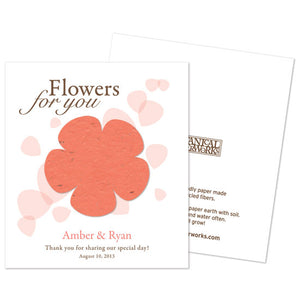 Personalized Classic Flower Plantable Seed Paper (Multiple Colors Available)