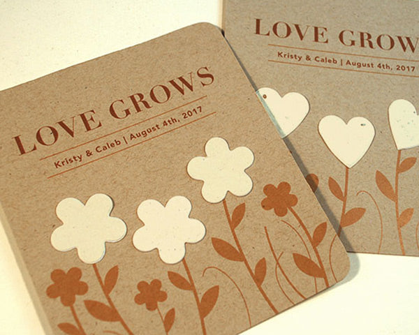 Personalized Rustic Garden of Love Seed Paper Wedding Favors