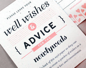 Well Wishes & Advice Favor Card