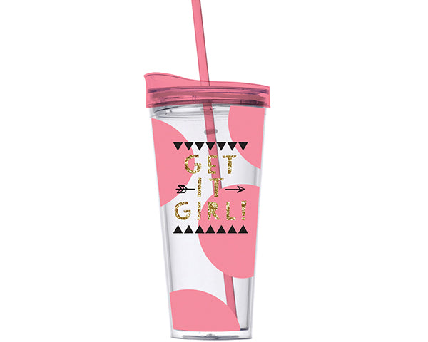 Get it Girl 22oz. Acrylic Tumbler