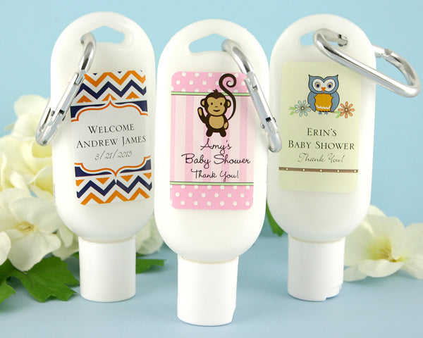 Exclusive Personalized Baby Shower Sunscreen | My Wedding Favors