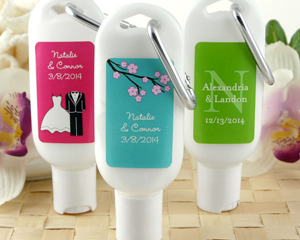 Personalized Sunscreen with Carabiner (Many Designs Available)