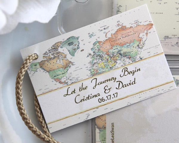 World Map Luggage Tag (Personalization Available)