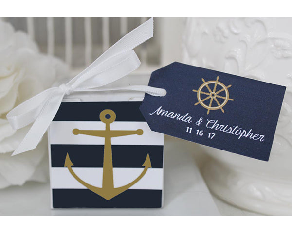 Personalized Nautical Anchor Favor Box