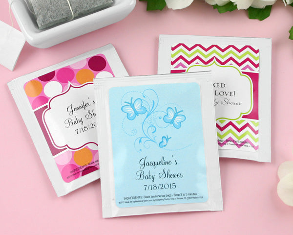 Personalized Exclusive Baby Tea Favor (Many Designs Available) | My Wedding Favors