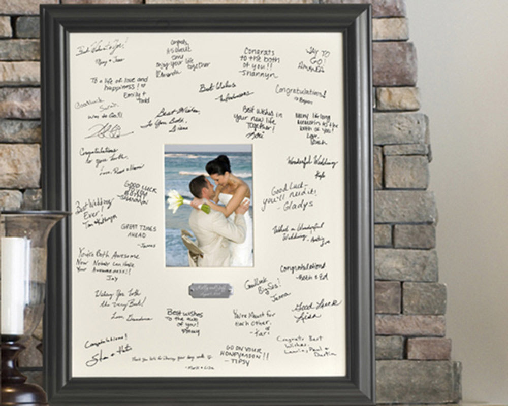 Personalized Wedding Wishes Signature Frame