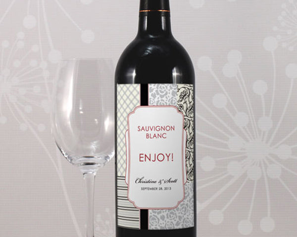 Eclectic Patterns Wine Label (Set of 8)