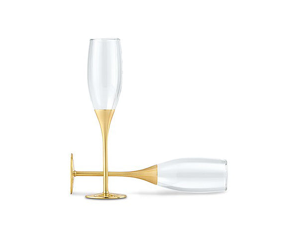 Load image into Gallery viewer, Venice Gold Toasting Flutes