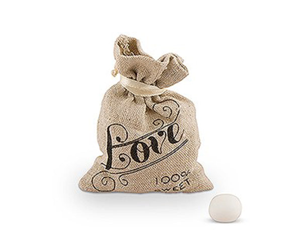 Vintage Love Mini Linen Drawstring Pouch (Set of 12)