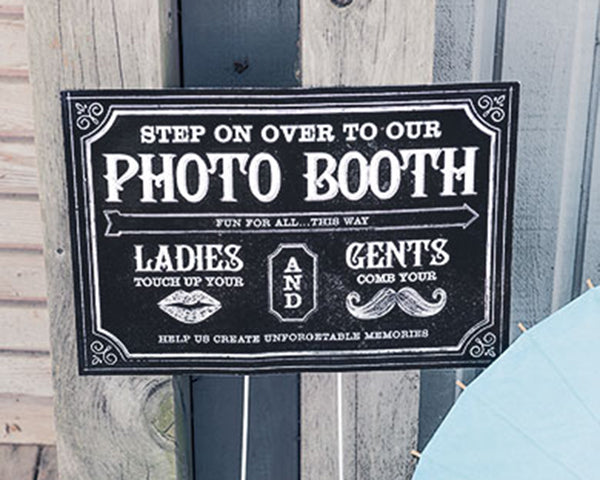 Personalized Directional Sign with Chalkboard Print Design