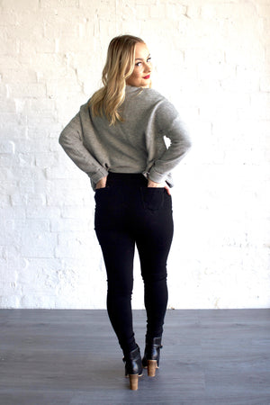 Black Rip Queenie Jeggings