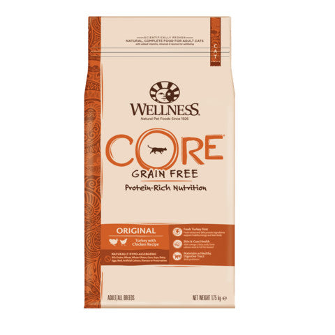 Wellness CORE Original Chicken and Turkey Grain Free Dry Adult Cat Food