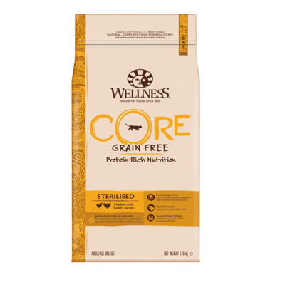 Wellness CORE Sterilised Chicken and Turkey Grain Free Dry Adult Cat Food