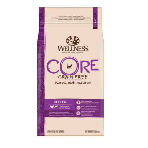 Wellness CORE Kitten Turkey and Salmon Grain Free Dry Cat Food