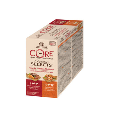Wellness CORE Signature Selects Chunky Selection Multipack Wet Adult Cat Food 8x79g