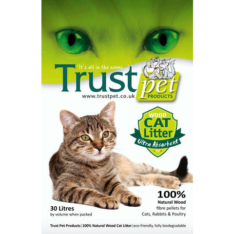 Trust Pet Products 100% Natural Wood Pellet Cat Litter