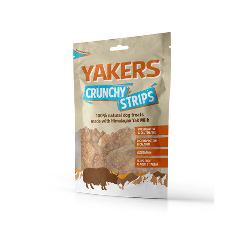 YAKERS Himalayan Crunchy Strips Dog Treats 70g