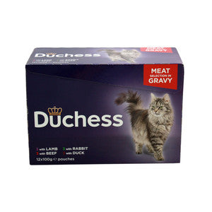 Duchess Adult Cat Pouches Meat in Gravy 12x100g