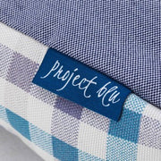 Project Blu Bengal Domino Bed Blue With Pattern