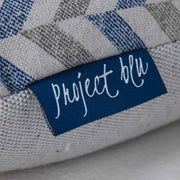 Project Blu Danube Domino Bed Grey Chevron