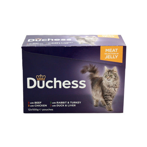 Duchess Adult Cat Pouches Meat in Jelly 12x100g