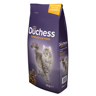 Duchess Complete Dry Cat Food with Chicken, Duck and Vegetables 2kg