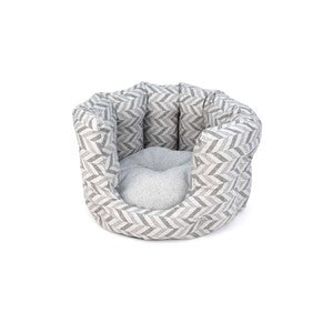 Project Blu Goa Cat Bed Blue Chevron Regular