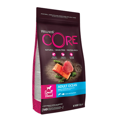 Wellness CORE Adult Dry Dog Food - Small Breed, Salmon and Tuna